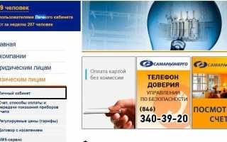 Передать показания счетчика в «Самараэнерго» (samaraenergo.ru)