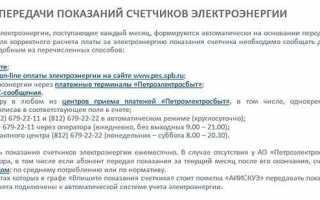 Личный кабинет на сайте Петроэлектросбыт pes.spb.ru