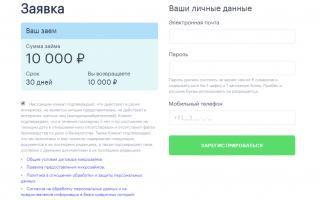 Личный кабинет Moneza — сервис онлайн-займов