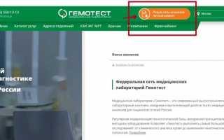 Личный кабинет Гемотест: вход на официальном сайте my.gemotest.ru