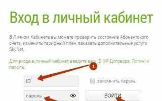Личный кабинет Скайнет: вход, оплата онлайн, привязка карты, управление услугами