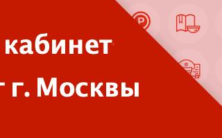 Госуслуги Москвы — личный кабинет портала pgu.mos.ru