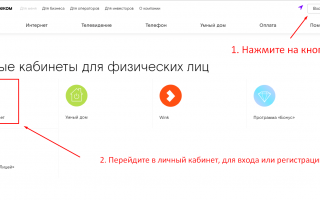Личный Кабинет Ростелеком — Официальный сайт