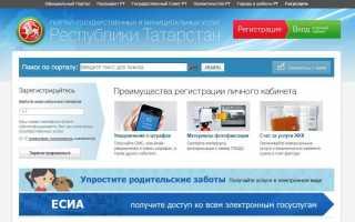 Госуслуги РТ личный кабинет вход — uslugi.tatarstan.ru