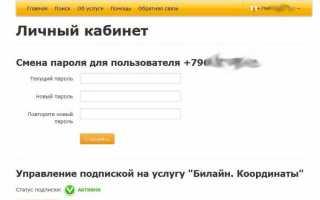 Услуга «Билайн Координаты» для получения данных о местонахождении родственников