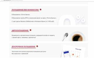 Досрочное погашение кредита в Почта Банке: особенности и пошаговые инструкции