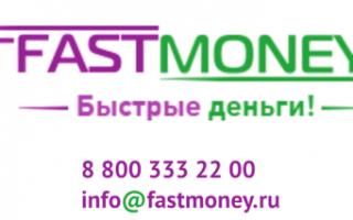Личный кабинет Fastmoney (Фаст Мани)