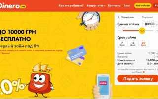Позика онлайн на карту від Dinero в Україні